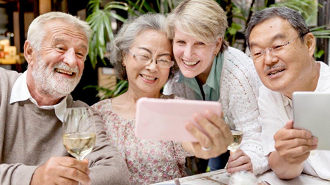 grupo de personas jubilación